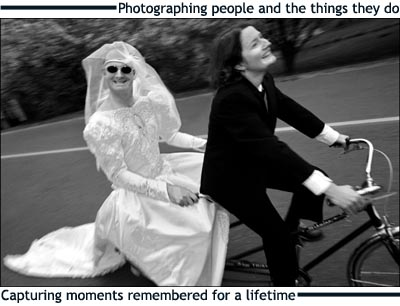This is just one example of Jay Clendenin's insightful and humorous wedding photojournalism.